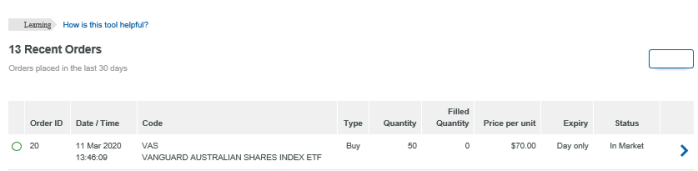 How to Buy Shares and ETFs - Cancel Order