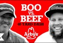 """BOO v BEEF / Boo Weekley and Andrew """"Beef"""" Johnston race the 40-yard dash"""