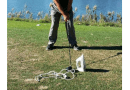 How not to hit an iron off the tee: photo