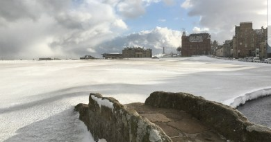 Check out these photos of snow covering St Andrews Old Course