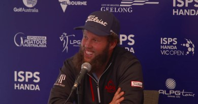 "Andrew ""Beef"" Johnston arrives in Australia for Vic Open: media conference video"