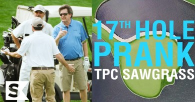 Golfers pranked at the island green 17th hole at TPC Sawgrass
