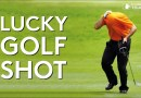 Amateur golfer hits one of the luckiest ever golf shots