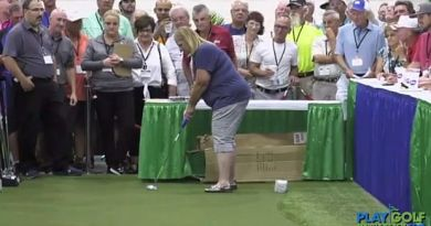 Watch this German woman sink a 100-foot putt to win $25,000