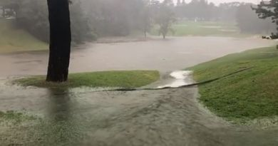 Ian Poulter posts incredible video of flooded golf course in Japan