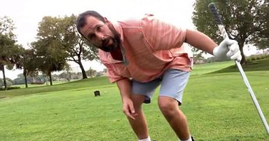 Adam Sandler celebrates 25 years of Happy Gilmore with THAT golf swing