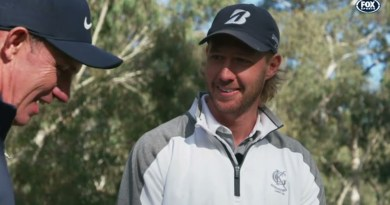 Richmond's Nathan Broad plays a round on The Golf Show