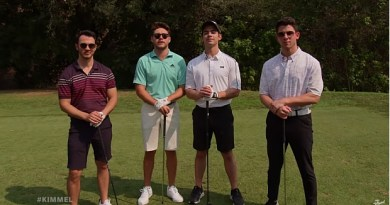The Jonas Brothers and Niall Horan play golf on Jimmy Kimmell: video