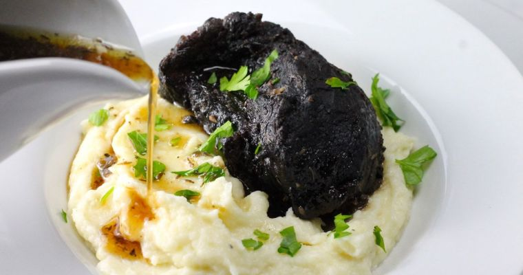 Keto Beef Cheeks with Cauliflower Mash