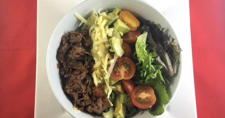 Slow Cooked Mexican Beef Fajita Salad