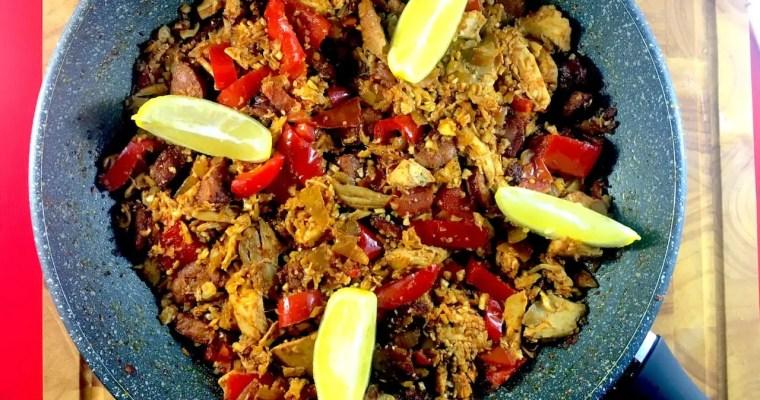 Chicken & Chorizo Cauliflower Paella