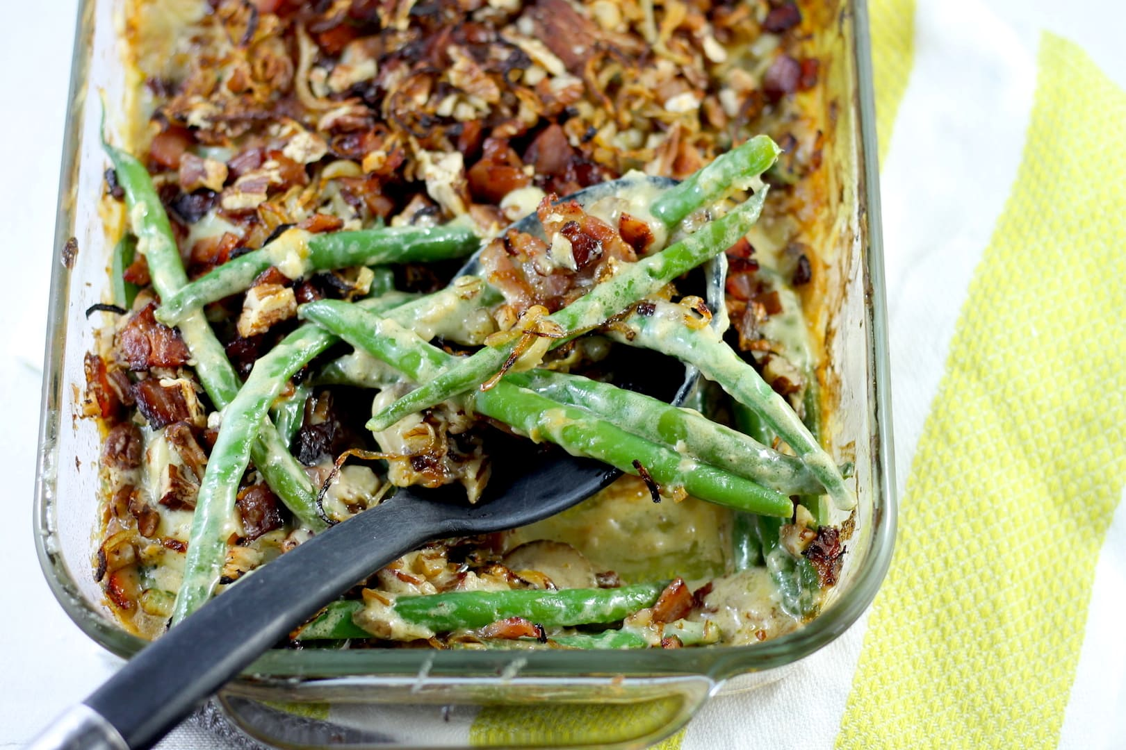 Loaded Keto Green Bean Casserole