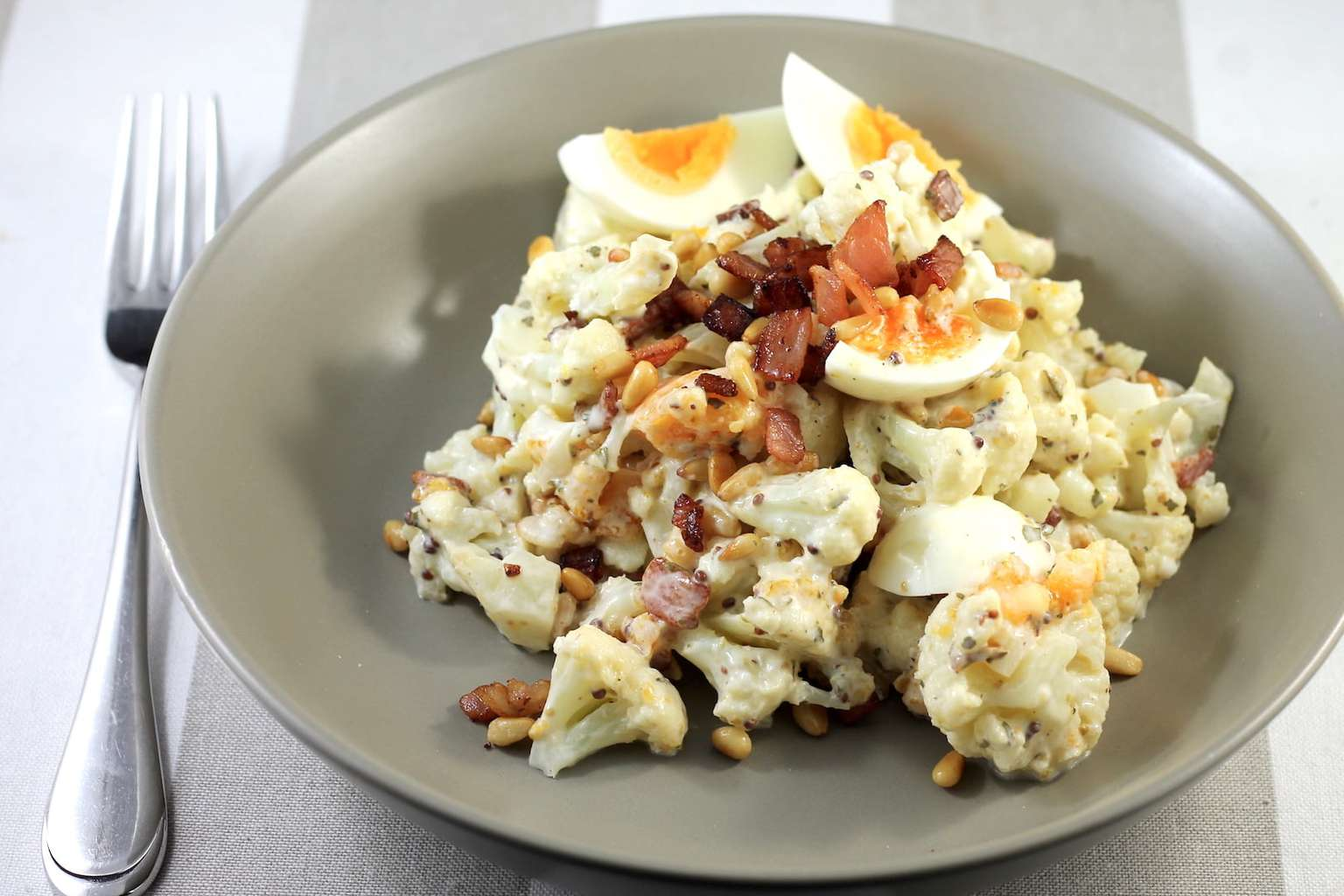 Keto Potato Salad with Crispy Bacon