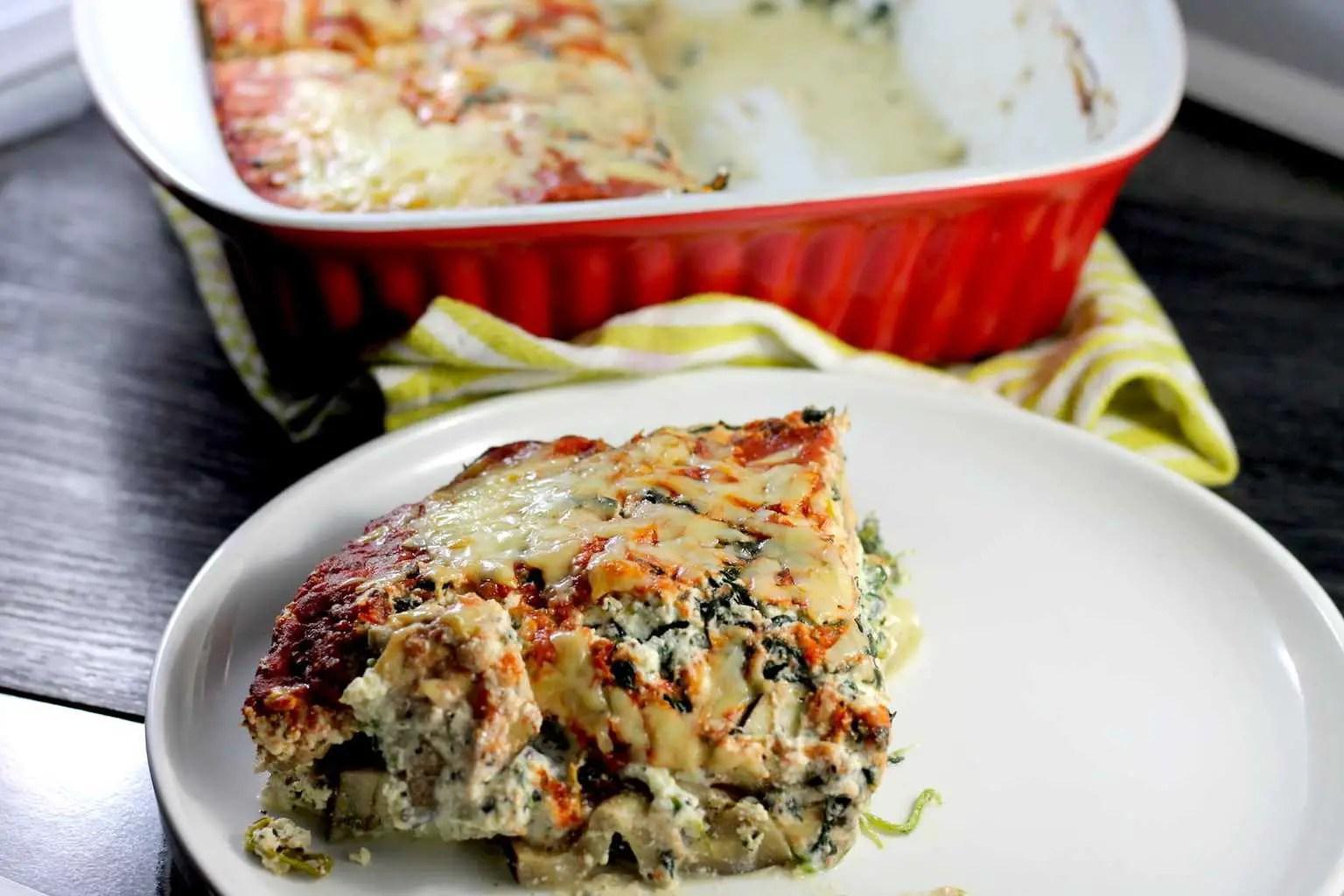 Keto Spinach and Ricotta Lasagna