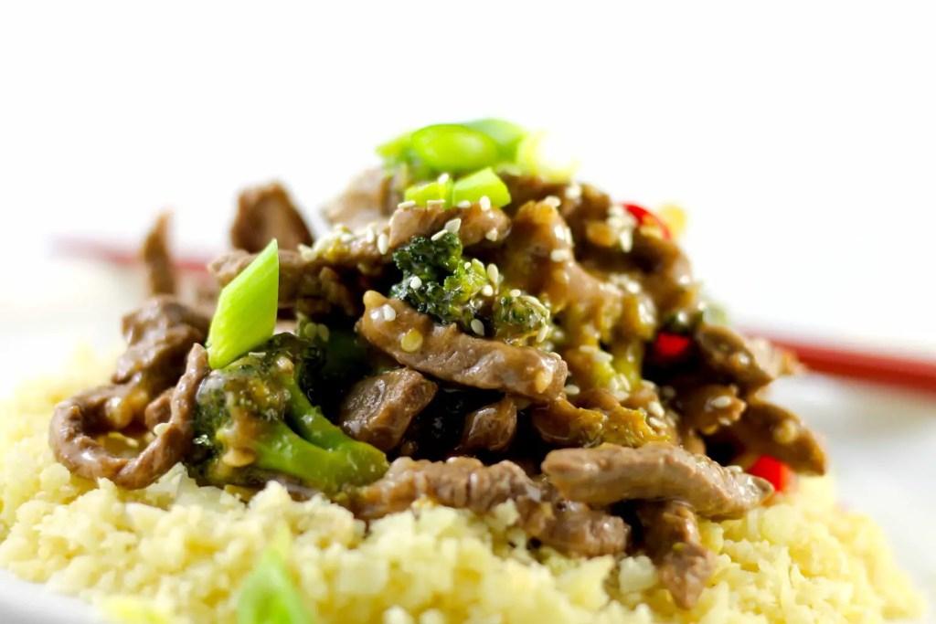 Keto beef and broccoli, keto stir fry, keto beef stir fry