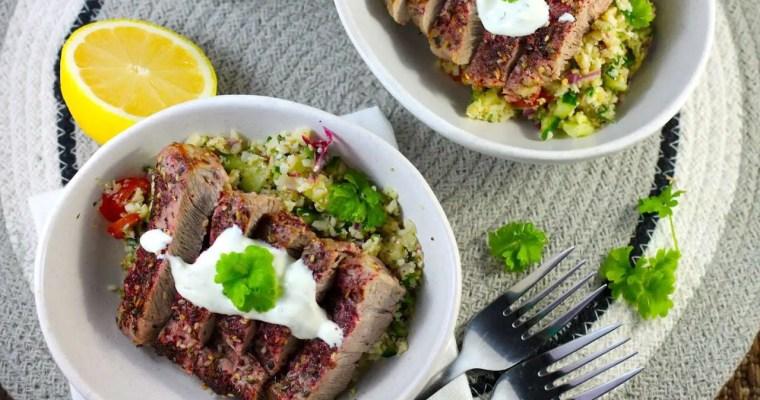 Keto Pork Steak with Zaatar