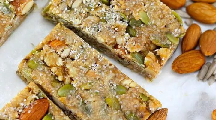 Keto Nut Bars – No Bake Keto Snacks
