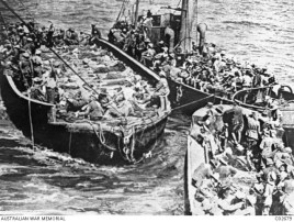 Wounded on Barges
