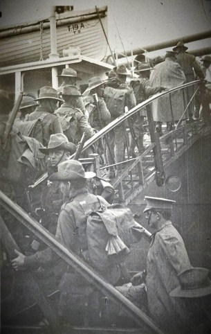 Boarding the Afric A19 - courtesy State Library NSW