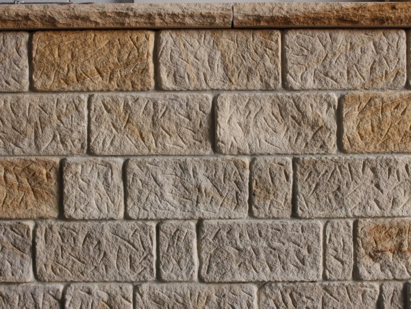 Antique Sandstone wall claddings used in a walling project