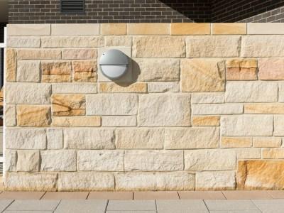 * Stone walling