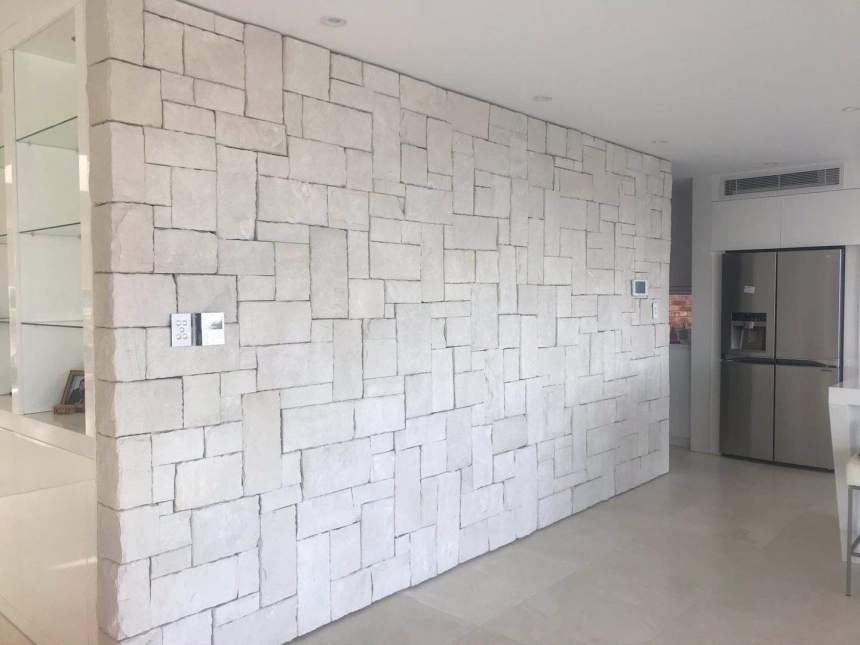 Colonial white walling stone, cladding stones, wall veneers, Australian sandstone