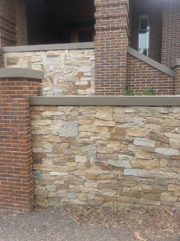 Franklin Gold natural irregular stone wall cladding