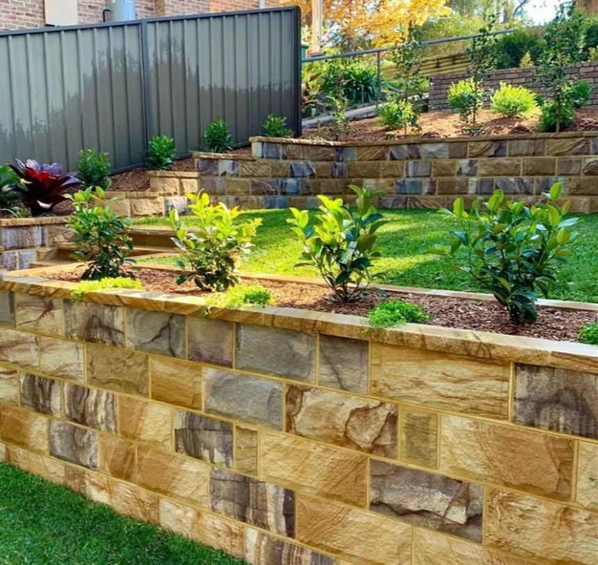 walling, stone walling, sandstone walling, australian stone walling, garden edging, garden edge, stones