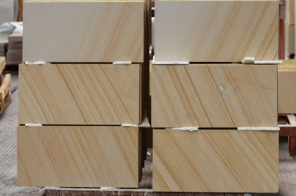 Sandstone cladding and tiling displaying at Aussietecture stone supplier factory in Toowoomba