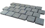 Natural stone landscaping capping paving garden edging - Black granite cobblestone