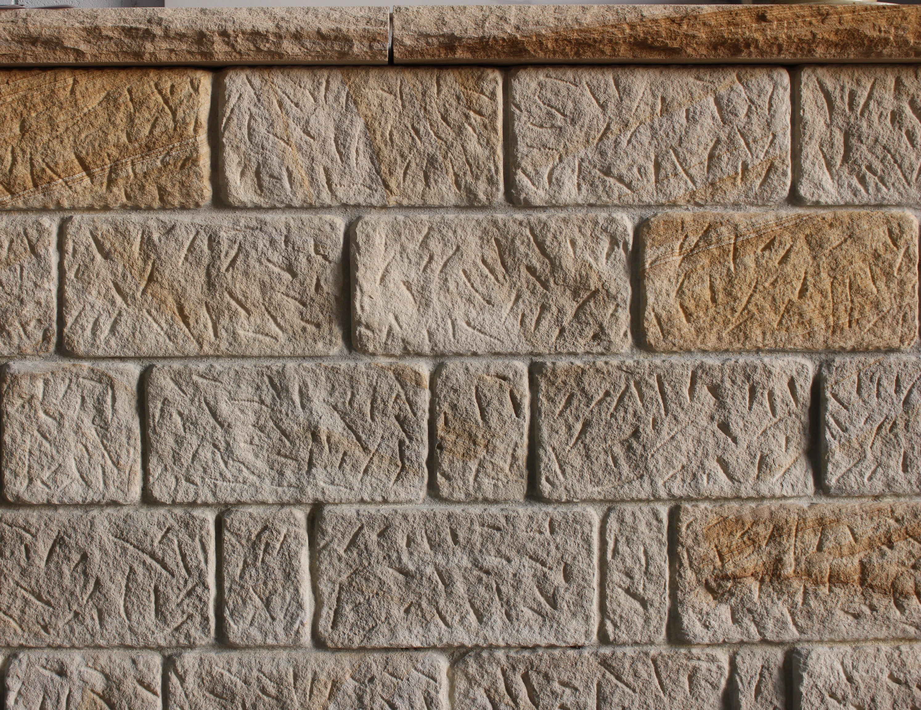 Sandstone used in a walling project
