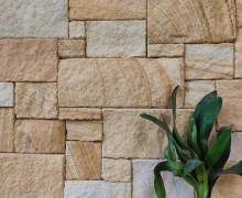 Aussietecture Colonial banded walling stone, Sydney sandstone sandstone, rectangular and square shape