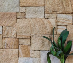 Aussietecture Colonial banded walling stone, Sydney sandstone, rectangular and square shape