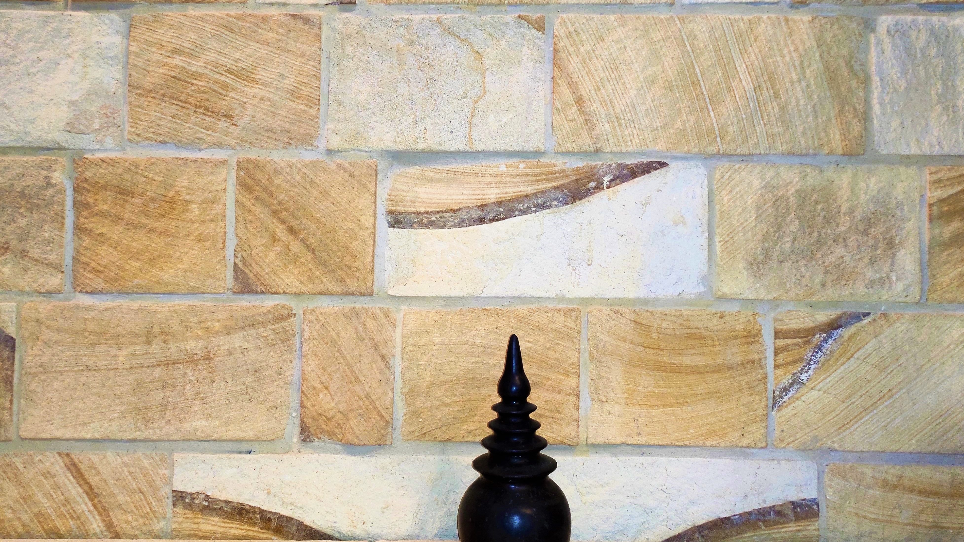 Interior feature wall using ranch wall stone claddings