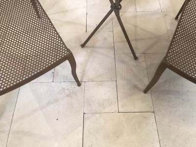 exterior Marble flooring tiles and pavers with some furniture