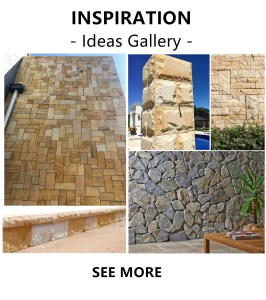 "walling, flooring and landscaping stone projects from aussietecture idea gallery,  with the writing ""inspiration"" and ""see more"""
