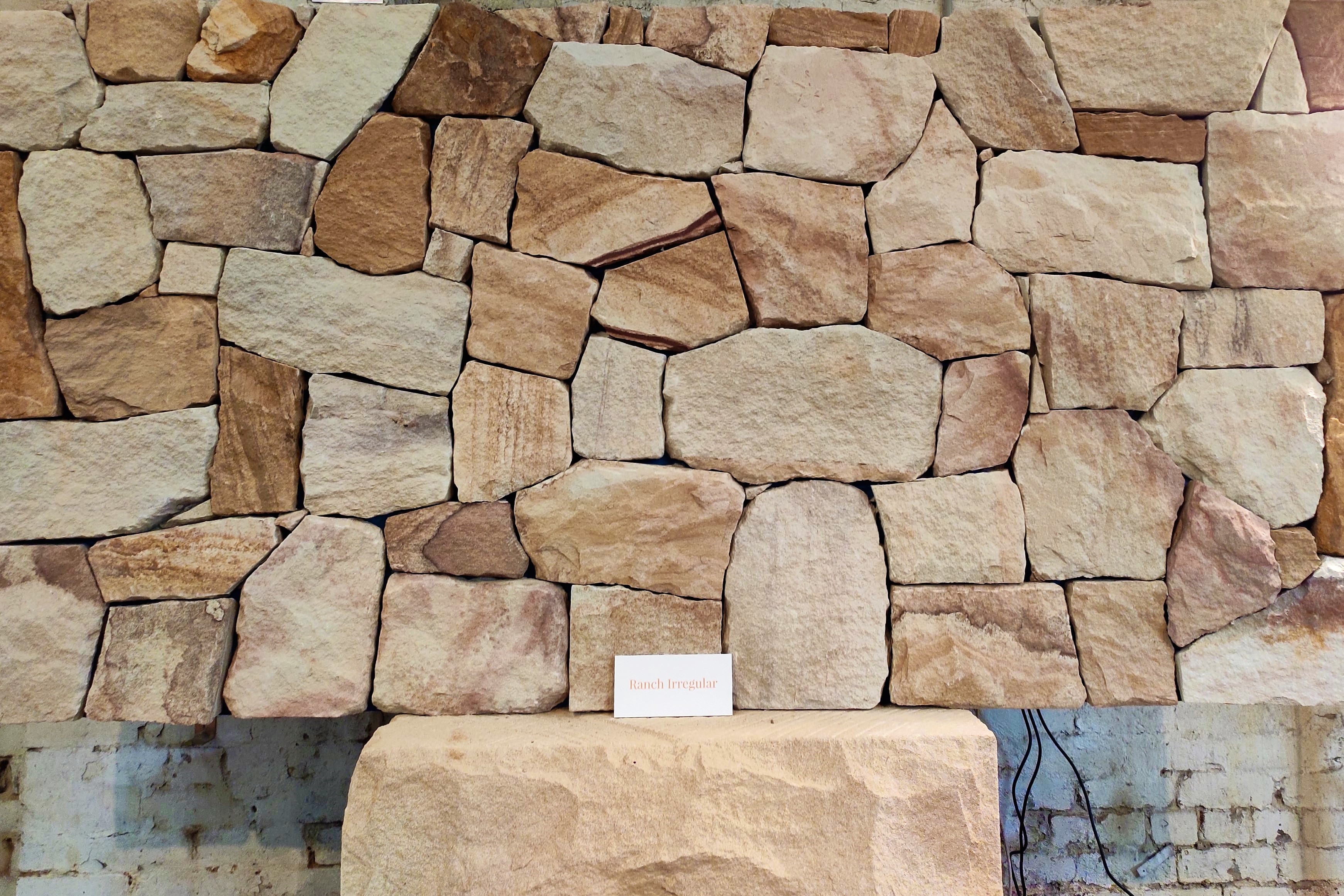 Australian sandstone Ranch wall claddings displayed in Aussietecture Alexandria, NSW showroom