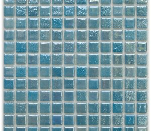 Aussietecture Rio swimming pool mosaic, blue glass mosaic for pool tiling
