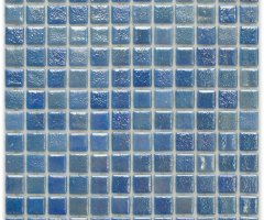 Aussietecture Vegas swimming pool mosaic, blue glass mosaic for pool tiling