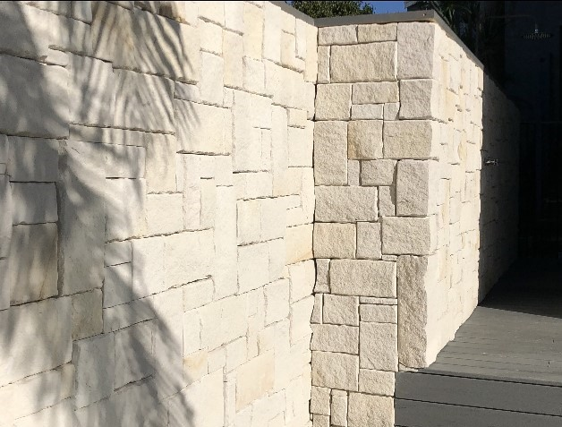 Colonial white Australian sandstone wall cladding