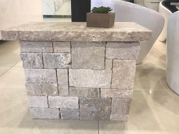 Travertine wall cladding Dajarra walling stone seen in Aussietecture showroom