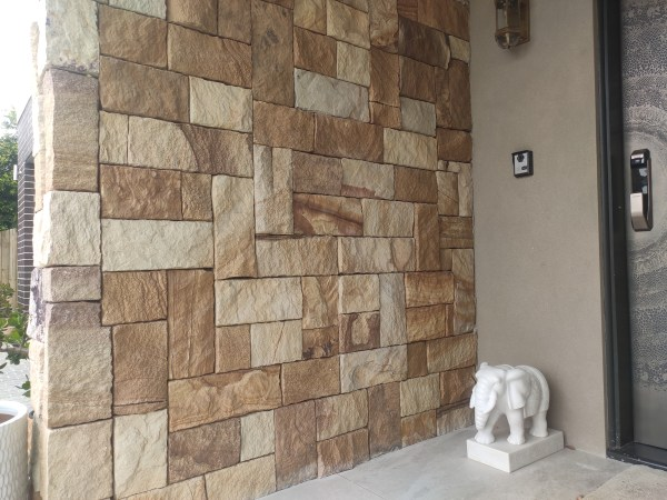 exterior wall project using Aussietecture Colonial Ranch wall cladding stone