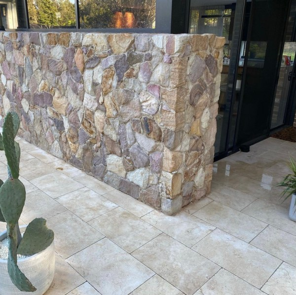 Ranch Irregular wall cladding project by rjstonecraft