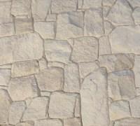 White australian sandstone flagstone walling