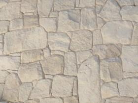 White irregular sandstone cladding
