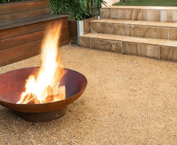 Banded brown Australian sandstone paver