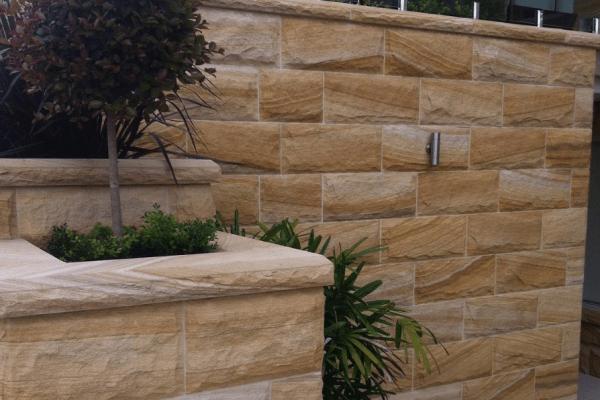 Rockface sandstone cladding