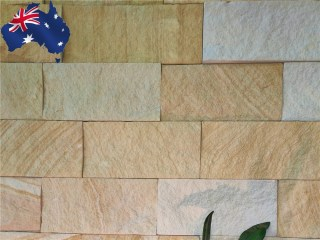 Kirra banded Australian sandstone walling