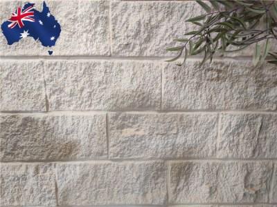 Kirra white Australian sandstone walling