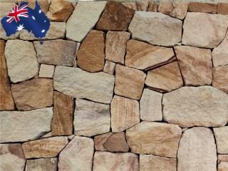 Ranch irregular Australian sandstone walling